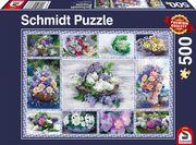 Schmidt Spiele - Puzzle - Blumenbouqet, 500 Teile