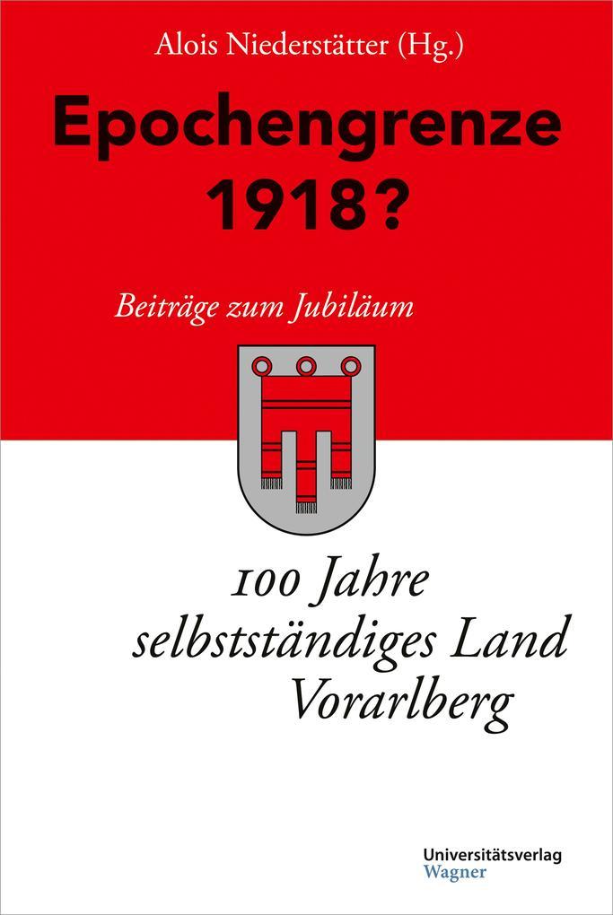Epochengrenze 1918? als eBook epub