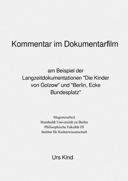 Kommentar im Dokumentarfilm. als Buch (kartoniert)