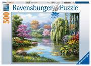 Romantik am Teich - Puzzle mit 500 Teilen