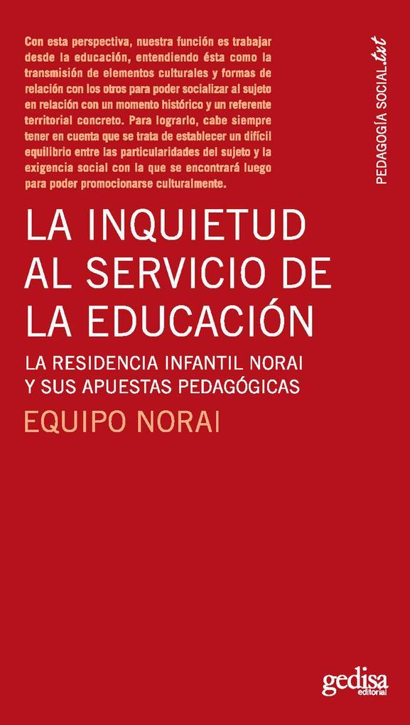 La inquietud al servicio de la educación als eBook pdf