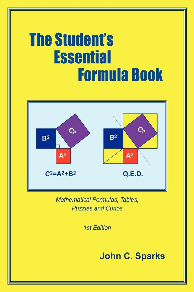 The Student's Essential Formula Book: 1st Edition als Taschenbuch