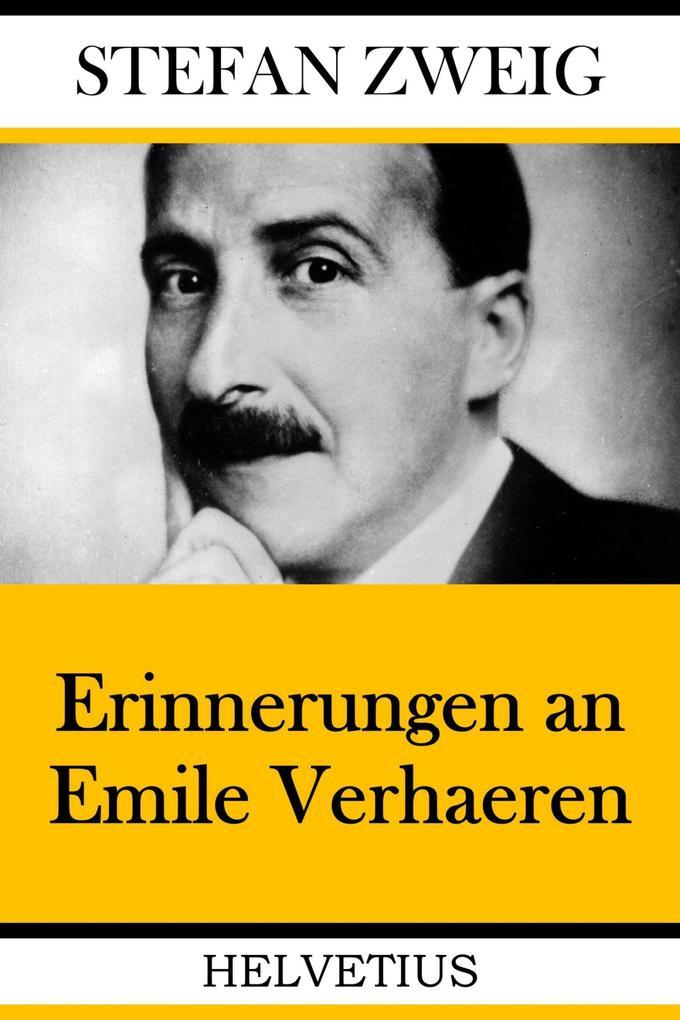 Erinnerungen an Emile Verhaeren als eBook epub