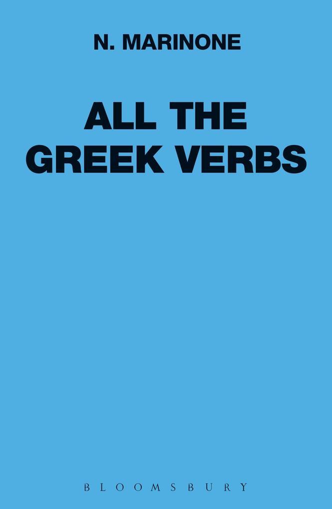 All the Greek Verbs als Buch (gebunden)