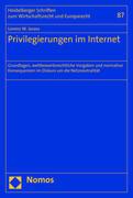 Privilegierungen im Internet