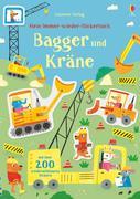 Mein Immer-wieder-Stickerbuch: Bagger und Kräne