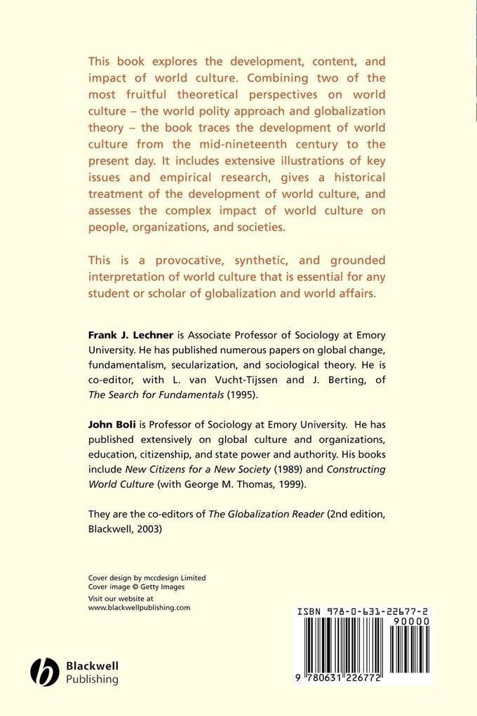 World Culture als Taschenbuch
