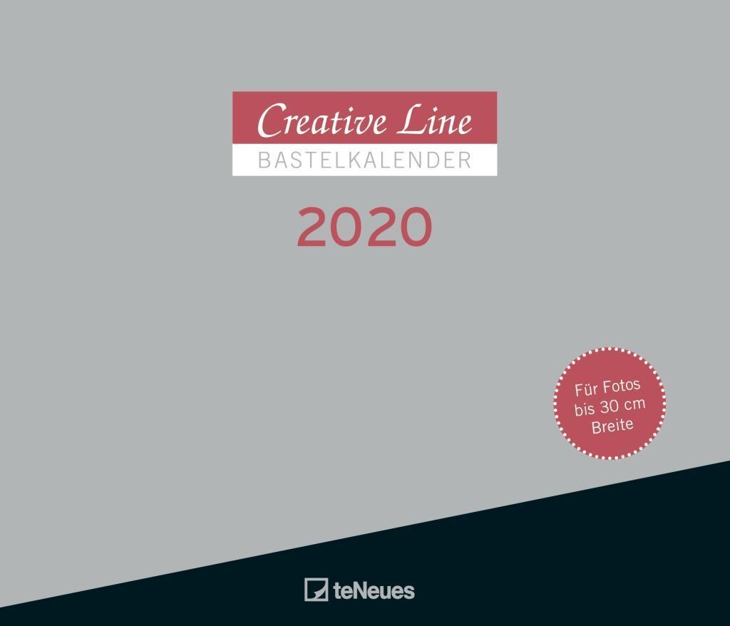 Creative Line Bastelkalender 2020 Querformat als Kalender
