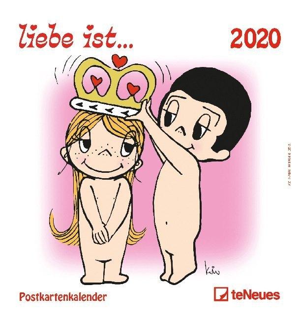 liebe ist... 2020. Postkartenkalender als Kalender