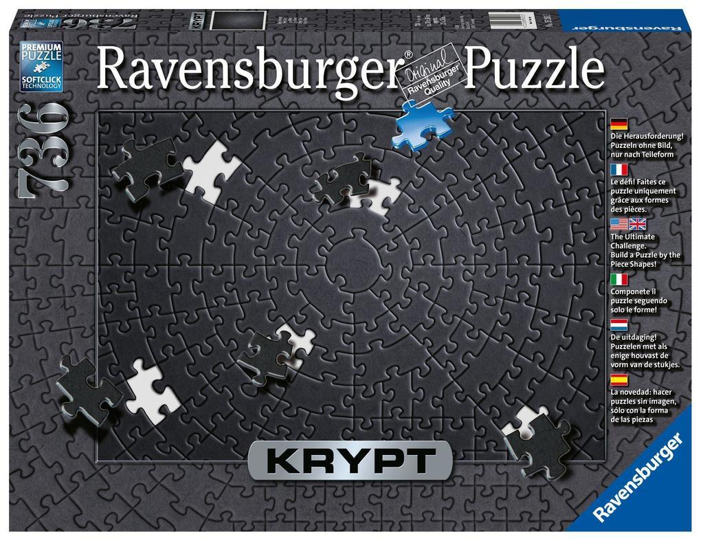 Krypt Black. Puzzle Puzzle 736 Teile als Spielware