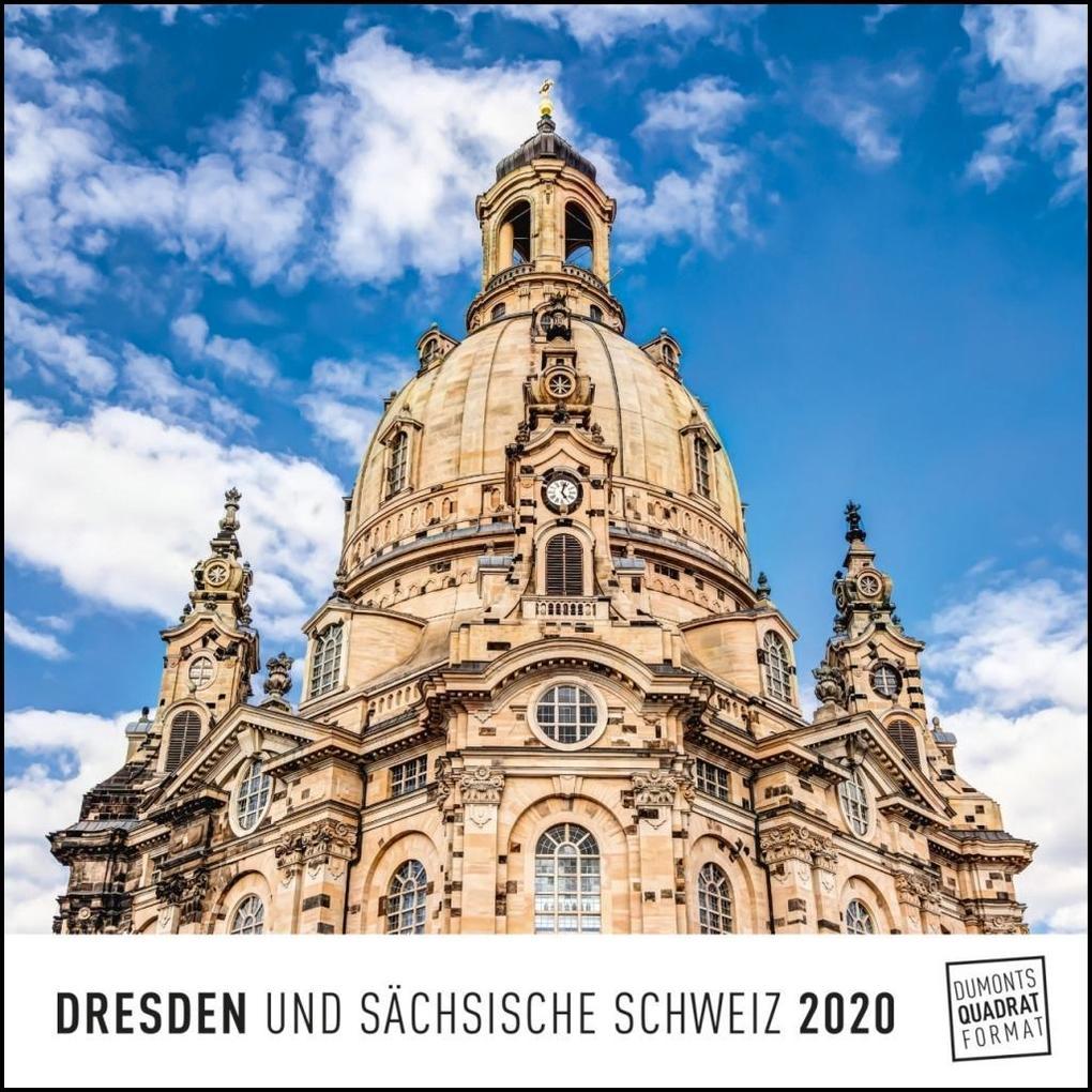Dresden 2020 - Wandkalender - Quadratformat 24 x 24 cm als Kalender