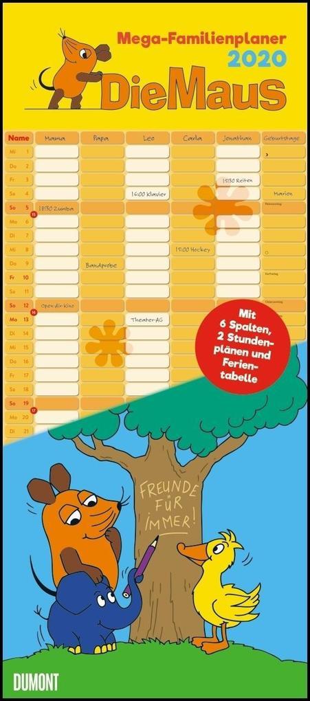 Die Maus 2020 - DUMONT Mega-Familienkalender als Kalender