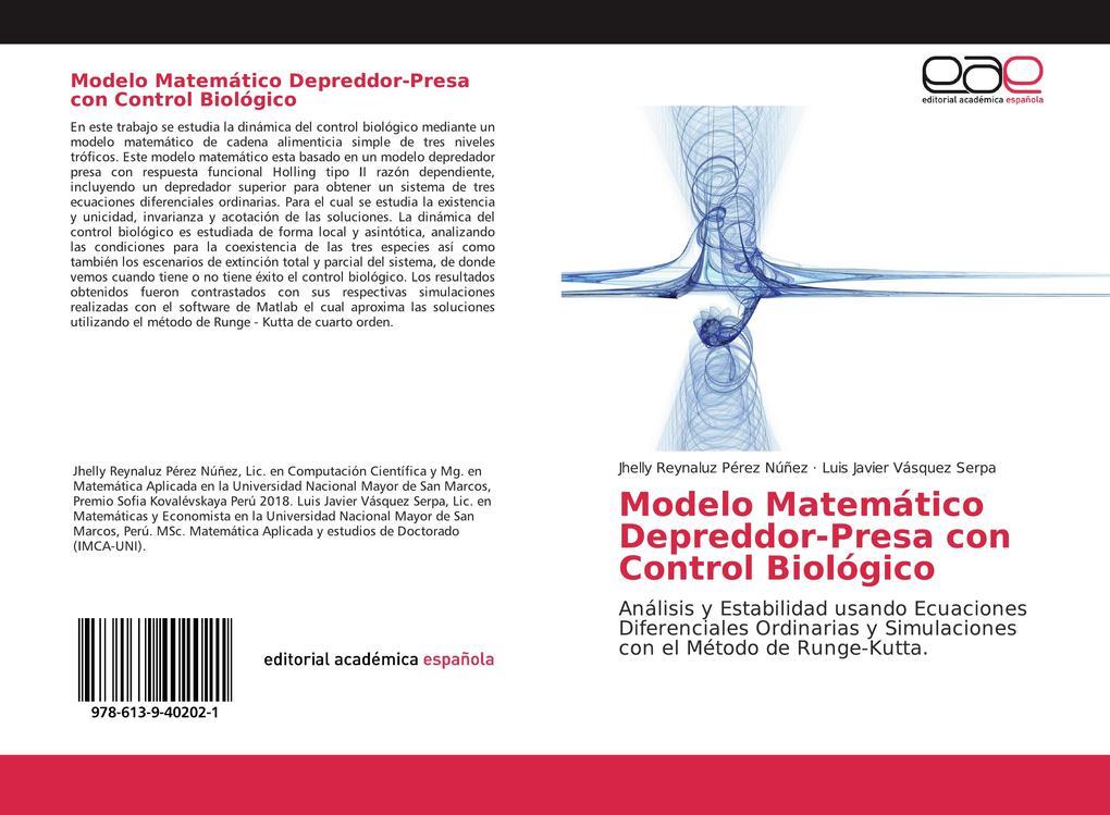 Modelo Matemático Depreddor-Presa con Control Biológico als Buch (kartoniert)