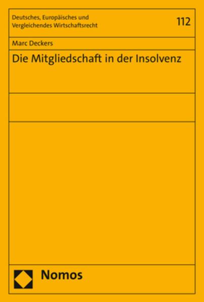 Die Mitgliedschaft in der Insolvenz als Buch (kartoniert)