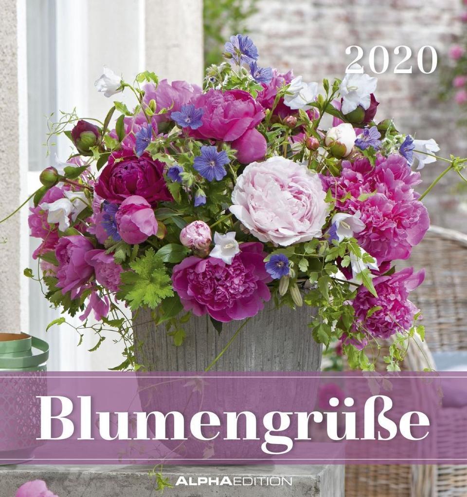Blumengrüße 2020 - Postkartenkalender (16 x 17) - Flowers - zum aufstellen oder aufhängen - Geschenkidee - Rosen - Pflanzen - Gadget als Kalender