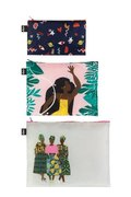 LOQI Zip Pocket Set Celeste Wallaert - Grlz Band, Night Night, Jungle Fairy