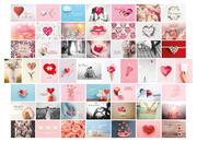 Postkarten Hochzeit 52 Wochen, Set mit 52 Liebespostkarten DIN A6 für Hochzeitsspiel
