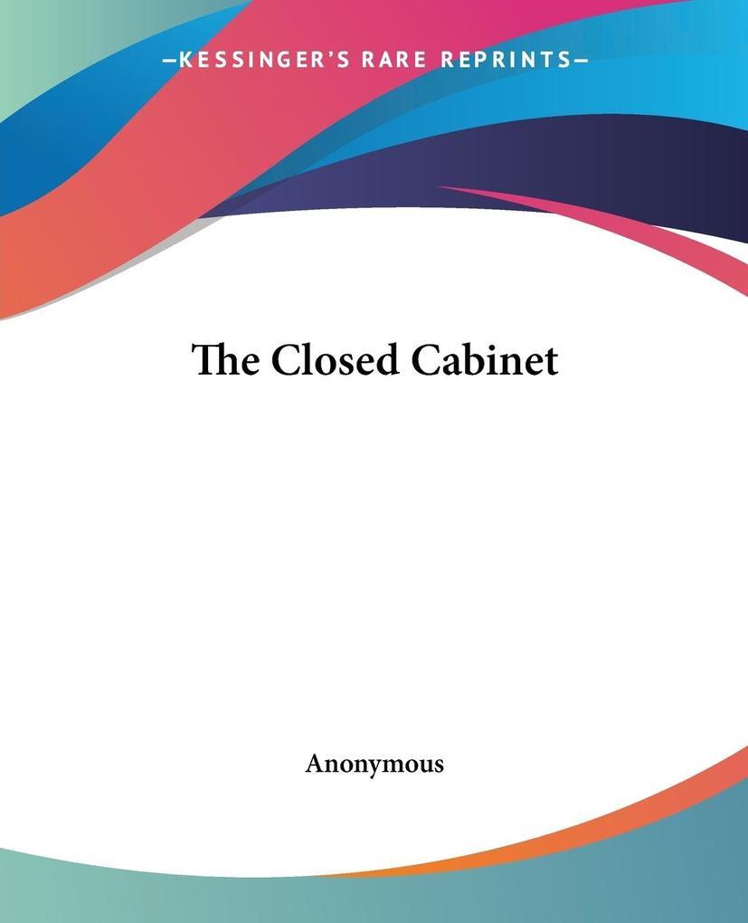 The Closed Cabinet als Taschenbuch