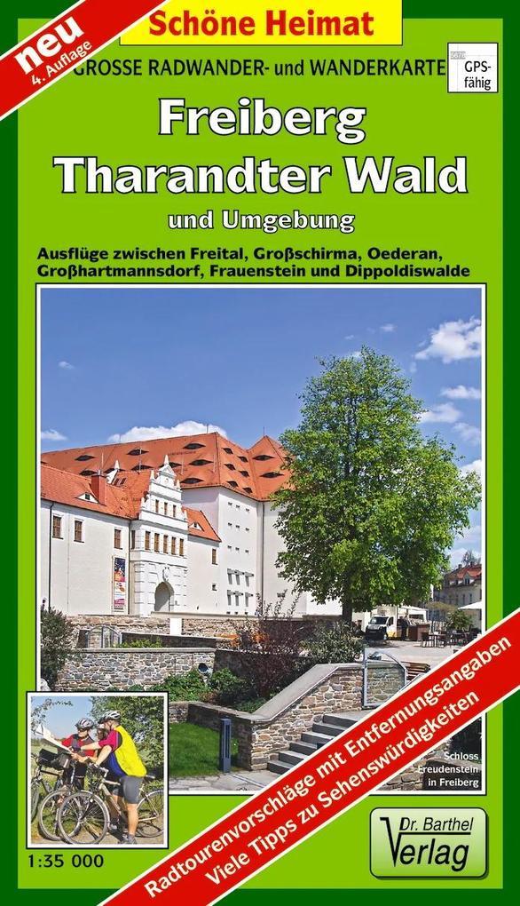 Freiberg Tharandter Wald und Umgebung 1 :35 000. Wander- und Radwanderkarte als Blätter und Karten