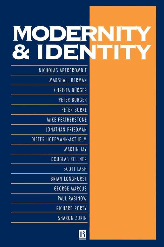 Modernity and Identity als Buch (kartoniert)