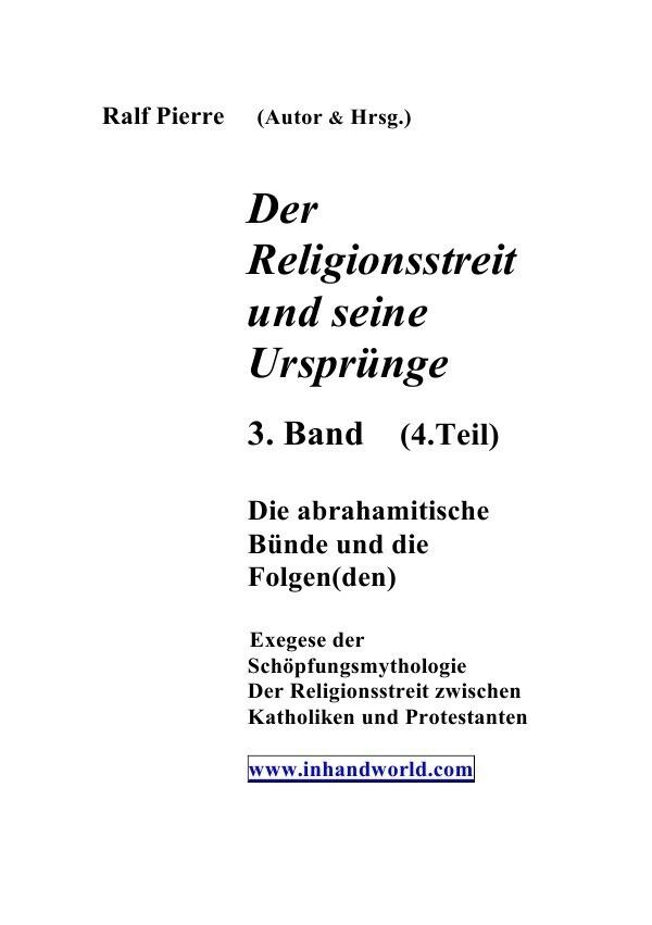 Der Religionsstreit und seine Ursprünge 4. Teil als Buch (kartoniert)