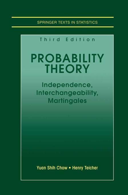 Probability Theory als Buch (gebunden)