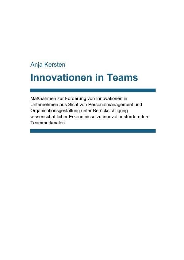 Innovationen in Teams als Buch (kartoniert)