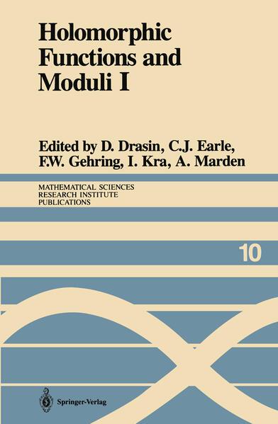 Holomorphic Functions and Moduli I: Proceedings of a Workshop Held March 13-19, 1986 als Buch (gebunden)