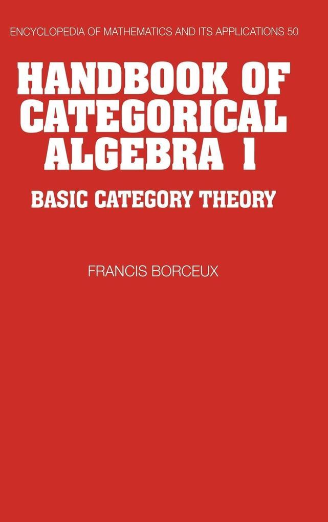 Handbook of Categorical Algebra als Buch (gebunden)