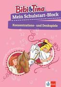 Bibi & Tina: Mein Schulstart-Block Konzentrations- und Denkspiele. Vorschule, ab 5 Jahren