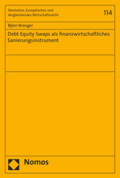 Debt Equity Swaps als finanzwirtschaftliches Sanierungsinstrument als Buch (kartoniert)