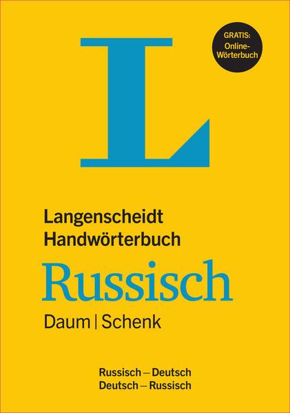 Langenscheidt Handwörterbuch Russisch Daum/Schenk - Buch mit Online-Anbindung als Buch (gebunden)