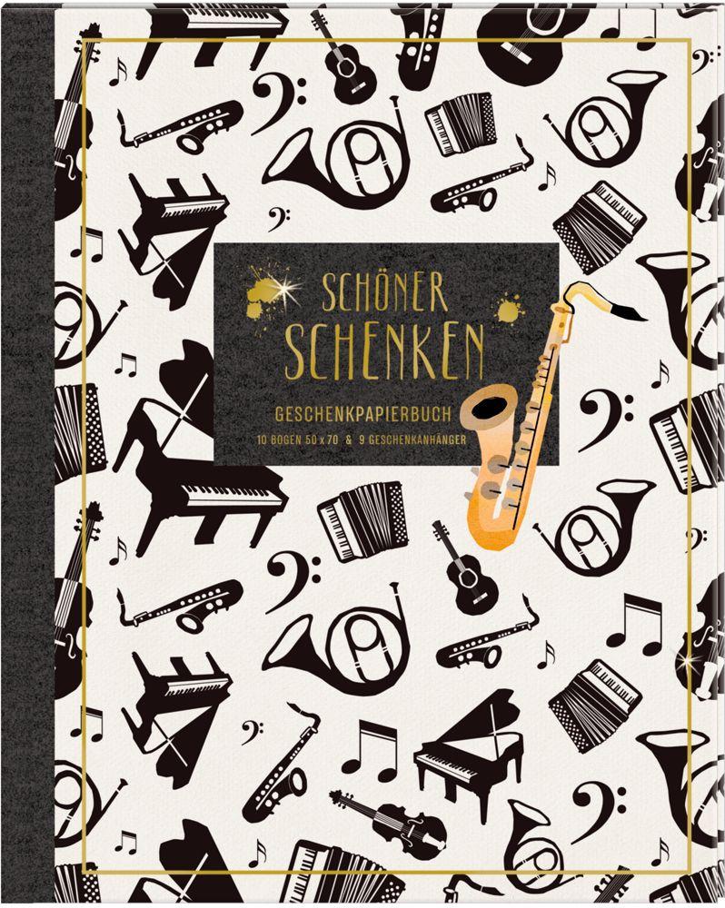 Geschenkpapier-Buch - Schöner schenken (All about music) als Sonstiger Artikel