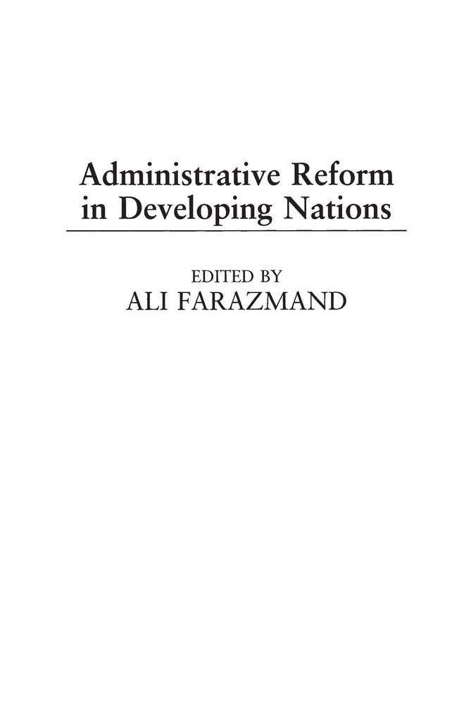 Administrative Reform in Developing Nations als Buch (gebunden)