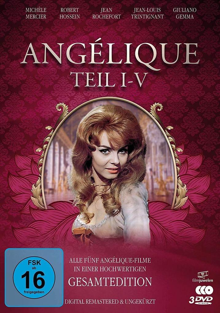 Angélique I-V - Gesamtedition (Alle 5 Filme - digital remastered). 3 DVDs als DVD