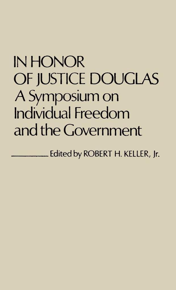 In Honor of Justice Douglas als Buch (gebunden)