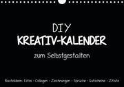 Bastelkalender: DIY Kreativ-Kalender -schwarz- (Wandkalender 2020 DIN A4 quer)