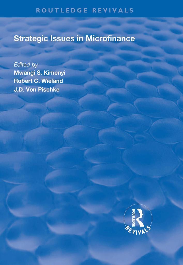 Strategic Issues in Microfinance als eBook epub