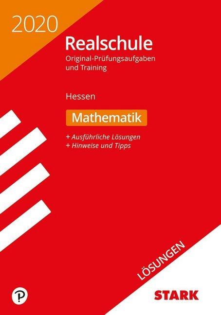 Lösungen zu Original-Prüfungen und Training Realschule 2020 - Mathematik - Hessen als Buch