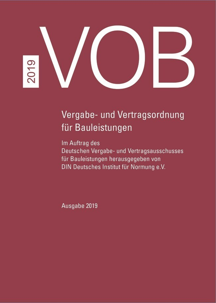 VOB Gesamtausgabe 2019 als Buch (gebunden)
