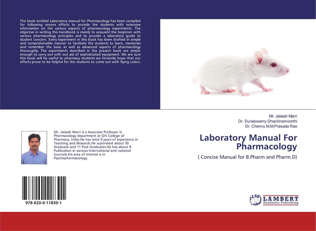 Laboratory Manual For Pharmacology als Buch (kartoniert)
