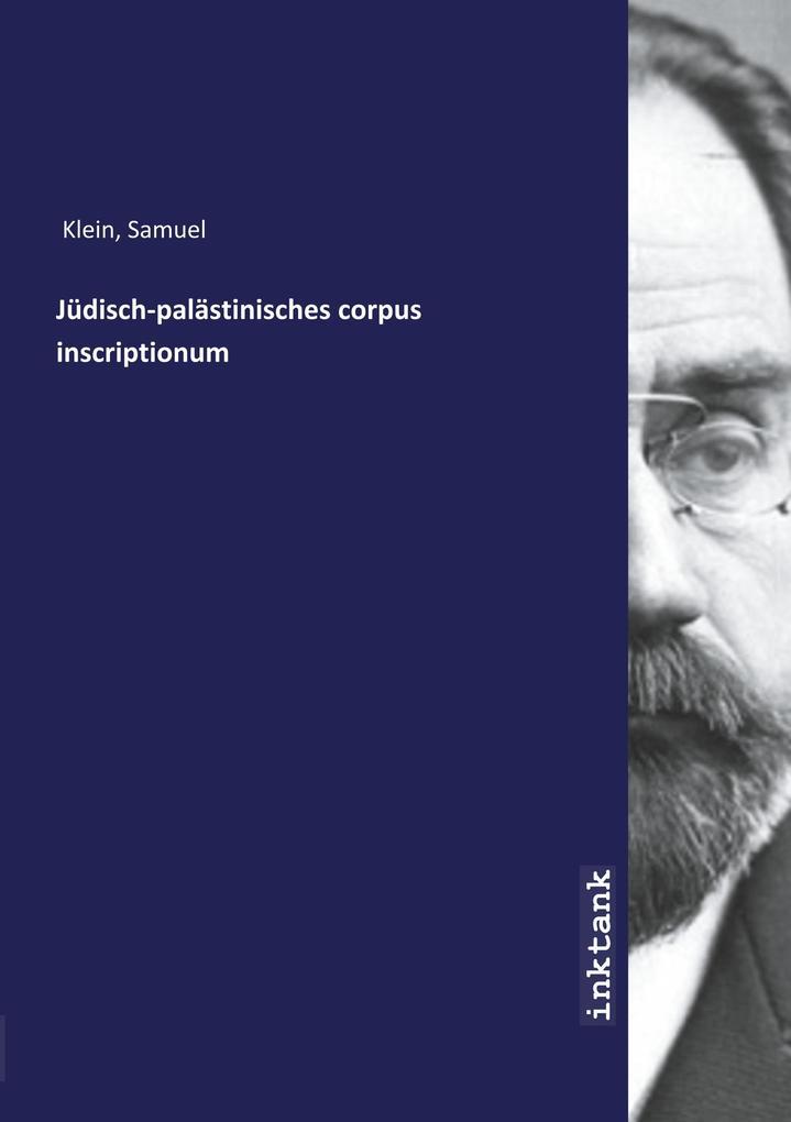 Jüdisch-palästinisches corpus inscriptionum als Buch (kartoniert)