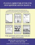 Vor-Kindergarten Druckbare Arbeitsmappen (Puzzles Arbeitsblätter für den Kindergarten: Band 2): 50 Arbeitsblätter. Der Preis dieses Buches beinhaltet