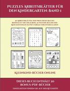 Kleinkind-Bücher online (Puzzles Arbeitsblätter für den Kindergarten: Band 1): 50 Arbeitsblätter. Der Preis dieses Buches beinhaltet die Erlaubnis, 20