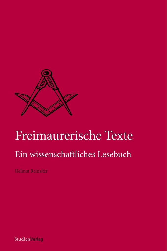Freimaurerische Texte als Buch (kartoniert)