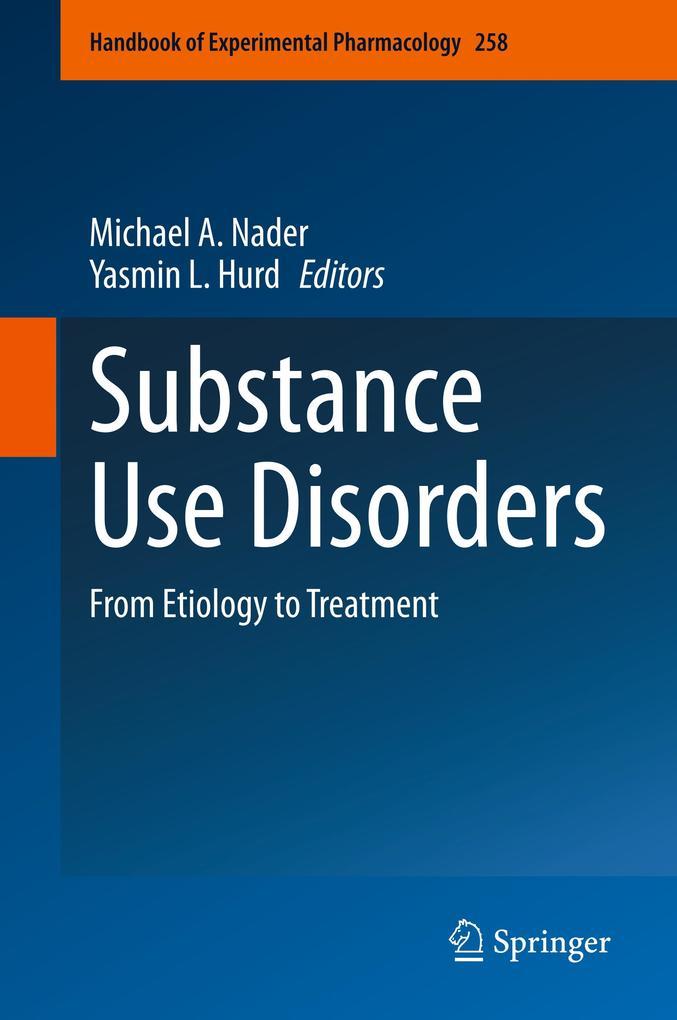 Substance Use Disorders als Buch (gebunden)