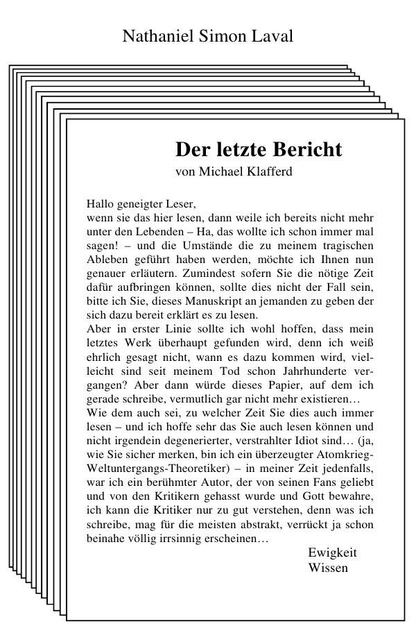 Der letzte Bericht als Buch (kartoniert)