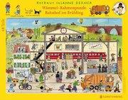 Wimmel-Rahmenpuzzle Frühling Motiv Bahnhof. 48 Teile