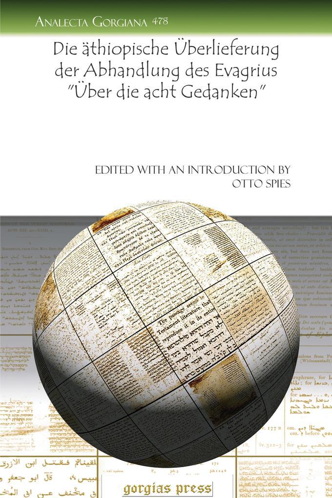 """Die äthiopische Überlieferung der Abhandlung des Evagrius """"Über die acht Gedanken"""" als eBook pdf"""