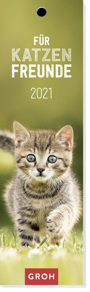 Für Katzenfreunde 2021 Lesezeichenkalender als Kalender